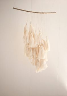 Simple White Tassels
