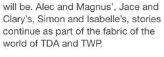 Cassie's answer on a fan's question about TDA. So we don't have to say goodbye just yet :-)