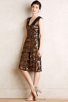 Sequined Losange Dress - anthropologie.com