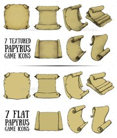 Papyrus Icon Set for Games - Miscellaneous Game Assets