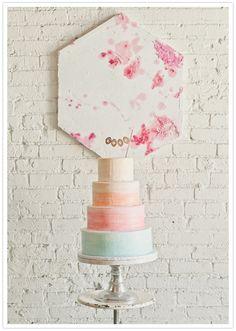 what a pretty wedding cake