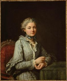 Portrait d'Innocente Guillemette de Rosnyvinen de Piré (1746-1824), vers 1762, par Van Loo.
