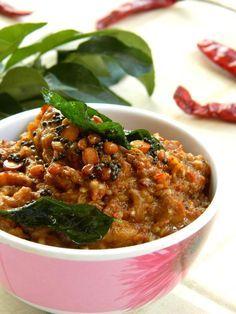 Roasted Eggplant Chutney / 'Kalchina Vankaya Pachadi' Recipe - Indian Cuisine