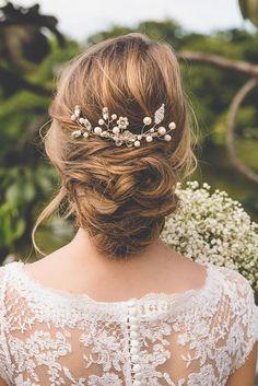 penteado de noiva com cabelo preso