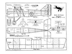 Outerzone : British SE5 Pursuit plan : download free vintage model aircraft plan