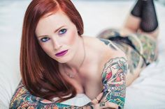 Stunning ink on a girl called Ashley. From www.inkedgirlsmag.com