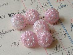 Be still my heart  . . . soft pink vintage glass buttons