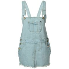 Amazon.com: Anna-Kaci Light Pastel Blue Denim Frayed Rose Button... ($30) ❤ liked on Polyvore featuring jumpsuits, rompers, denim romper, denim jumpsuit, playsuit jumpsuit, overalls jumpsuit and playsuit romper