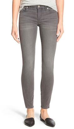 Gray spring jeans