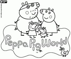 Colorear Logo del Parque Peppa Pig World