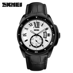 SKMEI Comfortable PU Strap High Quality Quartz Wristwatch Excellent Water Resistant Analog Man Watch with Date Window