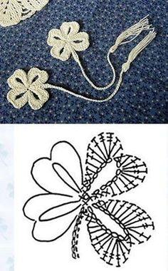 crochet clover leaf diagram