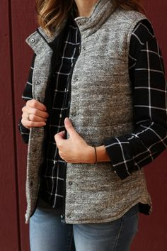 Skies are Blue Wels Quilted Puffer Vest - Really like this vest (fabric, fit, color).  I also like it paired with the black plaid shirt. :)