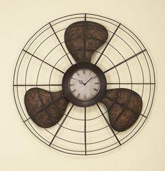 Старый Вентилятор Настенные Часы Аксессуары