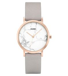 9a34edd2 CLUSE CL40103 La Roche Petite rose-gold and marble watch. #cluse Grey  Leather