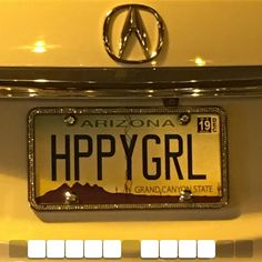 License plate picture game #happy Funny License Plates, License Plate Art, Yellow Theme, Colour Yellow, Cool Captions, Vanity Plate, Yellow Walls, Aesthetic Pictures, Aesthetic Colors