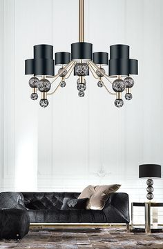 Strengthen yourself with this pendant lamp, it is a simple but also an excellent way to provide luxury to your room! Lighting Setups, Unique Lighting, Interior Lighting, Lighting Design, Home Lighting, Ceiling Light Design, Ceiling Lamp, Ceiling Lights, Luxury Chandelier