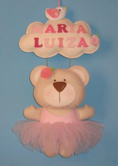 Felt teddy ballerina..