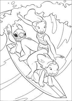 Desenhos para colorir Lilo e Stitch 8
