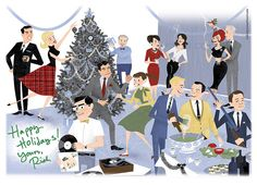 Mad Men illustration, by Dyna Moe