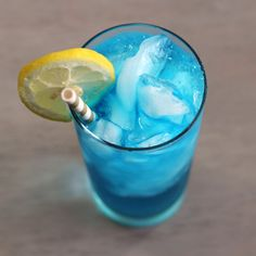 The Sex in the Driveway cocktail recipe is a blue variation on Sex on the Beach.