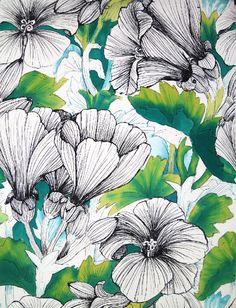 A Sketch for a design | Kuosiluonnos | Teija Puranen