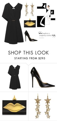 """""""Untitled #528"""" by doinabarsan ❤ liked on Polyvore featuring Balenciaga, Jimmy Choo, Charlotte Olympia and Ben-Amun"""