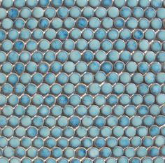 I love Penny Round tiles but this color....devine!!!