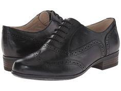 Clarks - Hamble Oak (Black Leather) Women's Lace up casual Shoes