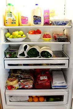 Tips for stocking your fridge + pantry to get through the craziness of fall!  Via @Reena Dasani Drummond | The Pioneer Woman