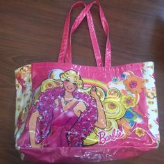 Large Vintage Barbie Tote Bag Large Vintage Barbie Tote Bag - Carry All. Excellent condition, very clean!! (Not UNIF) Barbie Bags Totes