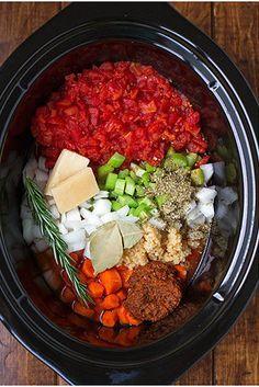 Homemade Minestrone Soup | 21 Crock-Pot Dump Dinners For Winter