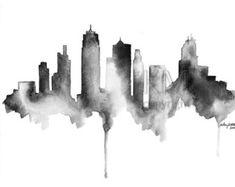 Arte negro de Nueva York ciudad de Nueva York por KelseyMDesigns