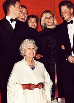 Queen Elizabeth II with some of her grandchildren