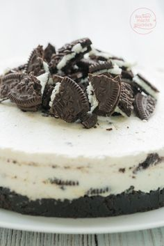 Oreo Cheesecake ohne Backen: Oreotorte mit Frischkäse, Sahne und Keksen