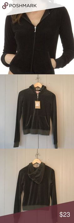 "✨NEW✨ Juicy Couture Velour Hoodie Jacket Super soft and chic jacket, brand new! Chocolate Brown in color. Armpit to armpit is 17"". Length is 21"". Offers are welcome. ☺️ Juicy Couture Jackets & Coats"