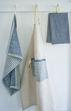 Molly's Sketchbook: super simple apron and towels - The Purl Bee