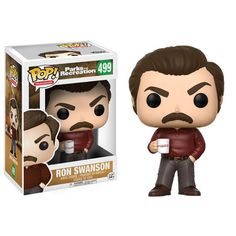 POP! TELEVISION: PARKS AND RECREATION - RON SWANSON  RON SWANSON ITEM #13036  De Funko Pop! van Ron Swanson uit de TV serie Parks and Recreation!