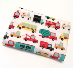 A personal favorite from my Etsy shop https://www.etsy.com/listing/494437432/the-wheels-on-the-bus-xl-baby-blanket