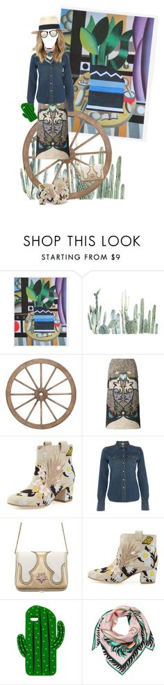 """""""Another Western"""" by puellasum ❤ liked on Polyvore featuring Mary Katrantzou, Laurence Dacade, Denim & Supply by Ralph Lauren, The Volon, Sarina, Emilio Pucci and Karen Walker"""