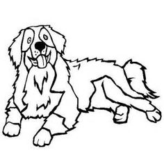 Mountain Dog Coloring Page
