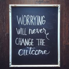 worrying less