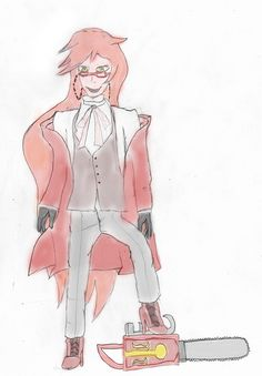 My drawing of my all-time favourite anime character, Grell Sutcliff! <3  I think it looks fine. :3