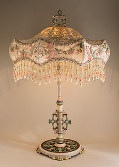 Vintage Victorian Beaded Lampshade | History   Antiques | Pinterest | Green  Lamp, Victorian And Beads