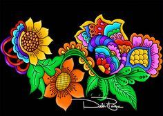 """Feeling Good"" by Debi Payne of Debi Payne Designs.  #art #zentangle #doodle #whimsical"