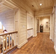 Hallway in a rustic home