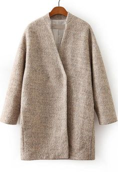 Wool Coat Pink Apricot Winter Jacket. Pink white jacket is one of the top 10 trends of the year. A perfect outfit that proves you need a wool coat for this fall winter season. Pattern Type :Plain Type