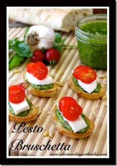 Pesto Bruschetta Recipe quick and easy #appetizer #recipe