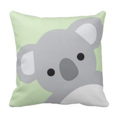 Nursery Pillow Children Room Decor Koala Bear Throw Cushions