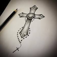 Image result for crucifixo desenho tattoo delicada